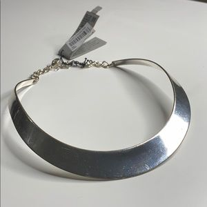 Silver plated hard necklace